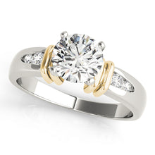 Load image into Gallery viewer, Round Cut Accented Engagement Ring with Channel Set Accents