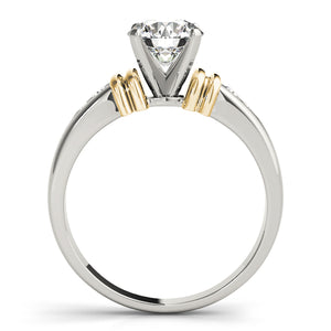 Round Cut Accented Engagement Ring with Channel Set Accents