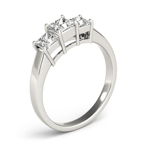 Princess Cut Three-Stone Engagement Ring