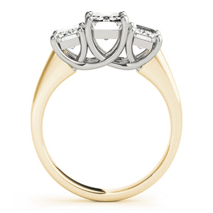 Classic Emerald Cut Three-Stone Engagement Ring