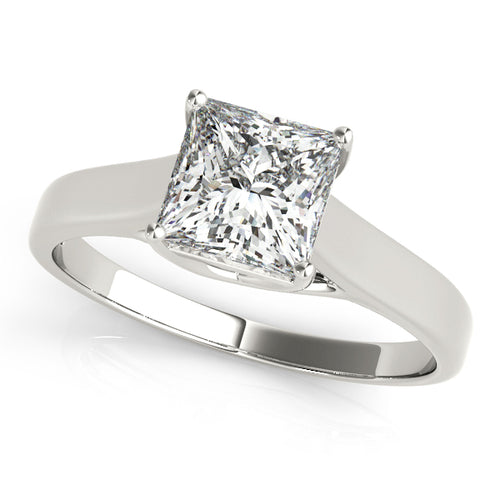 Princess Cut Solitaire Trellis Setting Engagement Ring
