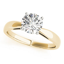 Load image into Gallery viewer, Classic Round Solitaire on a Tapered Band
