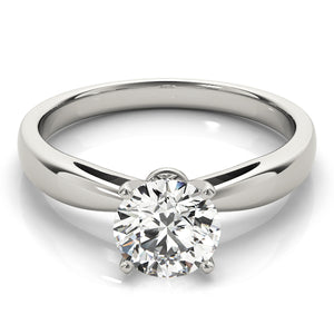 Classic Round Solitaire on a Tapered Band