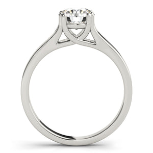 Solid Tapered Round Cut Engagement Ring