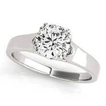 Load image into Gallery viewer, Solid Tapered Round Cut Engagement Ring