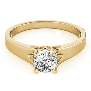 Modern Round Cut Solitaire Engagement Ring
