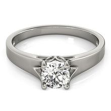 Load image into Gallery viewer, Modern Round Cut Solitaire Engagement Ring
