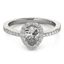 Load image into Gallery viewer, Pear Cut Halo Engagement Ring