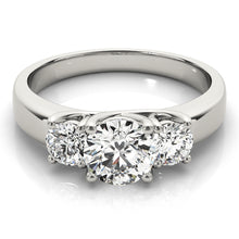 Load image into Gallery viewer, Elegant Three-Stone Round Cut Engagement Ring