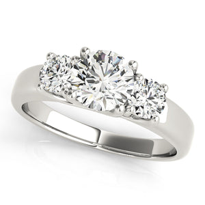 Elegant Three-Stone Round Cut Engagement Ring
