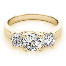 Load image into Gallery viewer, Comfort Fit Round Cut Three-Stone Engagement Ring