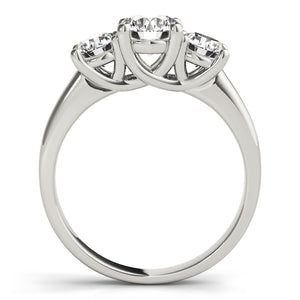 Comfort Fit Round Cut Three-Stone Engagement Ring