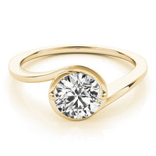 Load image into Gallery viewer, Curved Band Round Cut Solitaire Engagement Ring