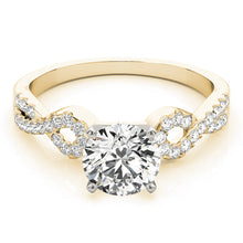 Load image into Gallery viewer, Round Cut Engagement Ring with Looped Infinity Setting