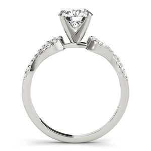 Round Cut Engagement Ring with Looped Infinity Setting