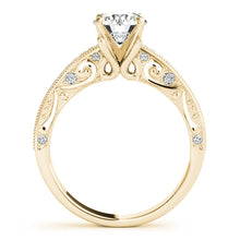 Load image into Gallery viewer, Round Cut Filigree Engagement Ring with Accents