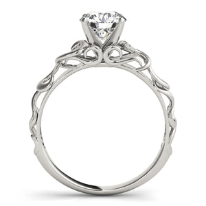 Solitaire Engagement Ring with Open Metalwork