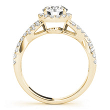 Load image into Gallery viewer, Round Cut Halo Engagement Ring with Infinity Design