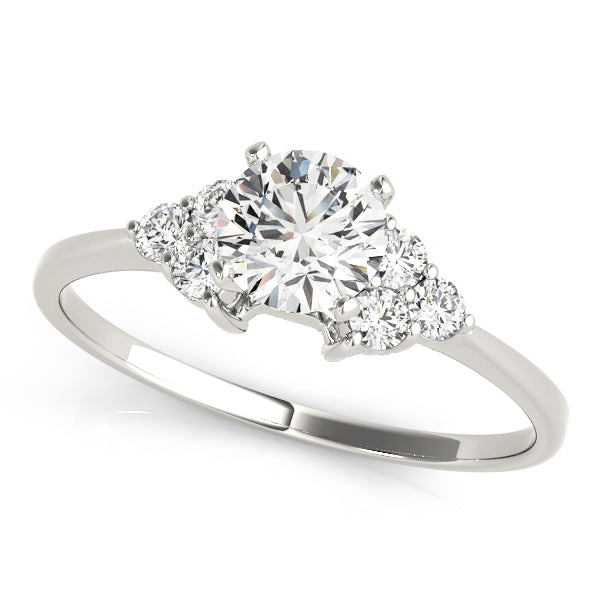7-Stone Round Cut Engagement Ring with Accents