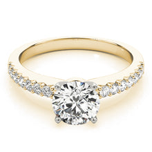 Load image into Gallery viewer, Round Cut Engagement Ring with Classic Scalloped Accents