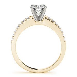 Round Cut Engagement Ring with Classic Scalloped Accents