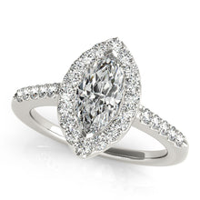 Load image into Gallery viewer, Marquise Cut Halo Engagement Ring