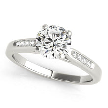 Load image into Gallery viewer, Classic Round Cut Solitaire with Channel Set Accents