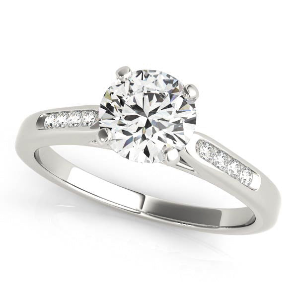 Classic Round Cut Solitaire with Channel Set Accents
