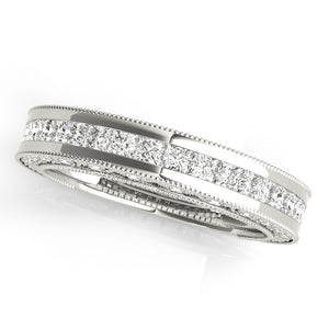 Princess Cut Engagement Ring with Pave Style Channel Accents
