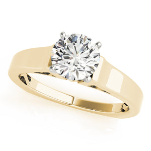 Classic Round Cut Solitaire With Euro Shank