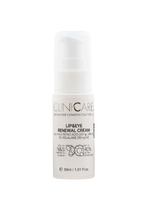 Cliniccare CLINICCARE Lip & Eye Renewal Cream Hyal+ 30ml | Beautology.