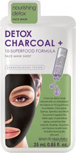 Load image into Gallery viewer, Skin Rebublic Detox Charcoal + 10 Superfood Formula Face Sheet Mask Online