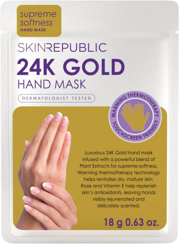 buy Skin Republic 24K Gold Foil Hand Mask at Beautology Online.