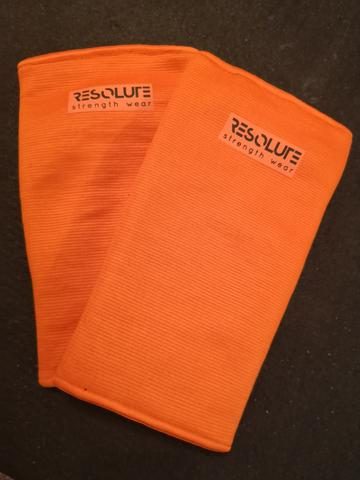 Resolute Elbow Sleeves - Orange Triple Ply