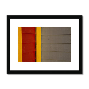 Swedish Beach Huts_1 Framed & Mounted Print