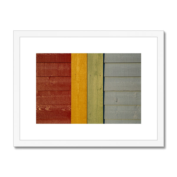 Swedish Beach Huts_3 Framed & Mounted Print