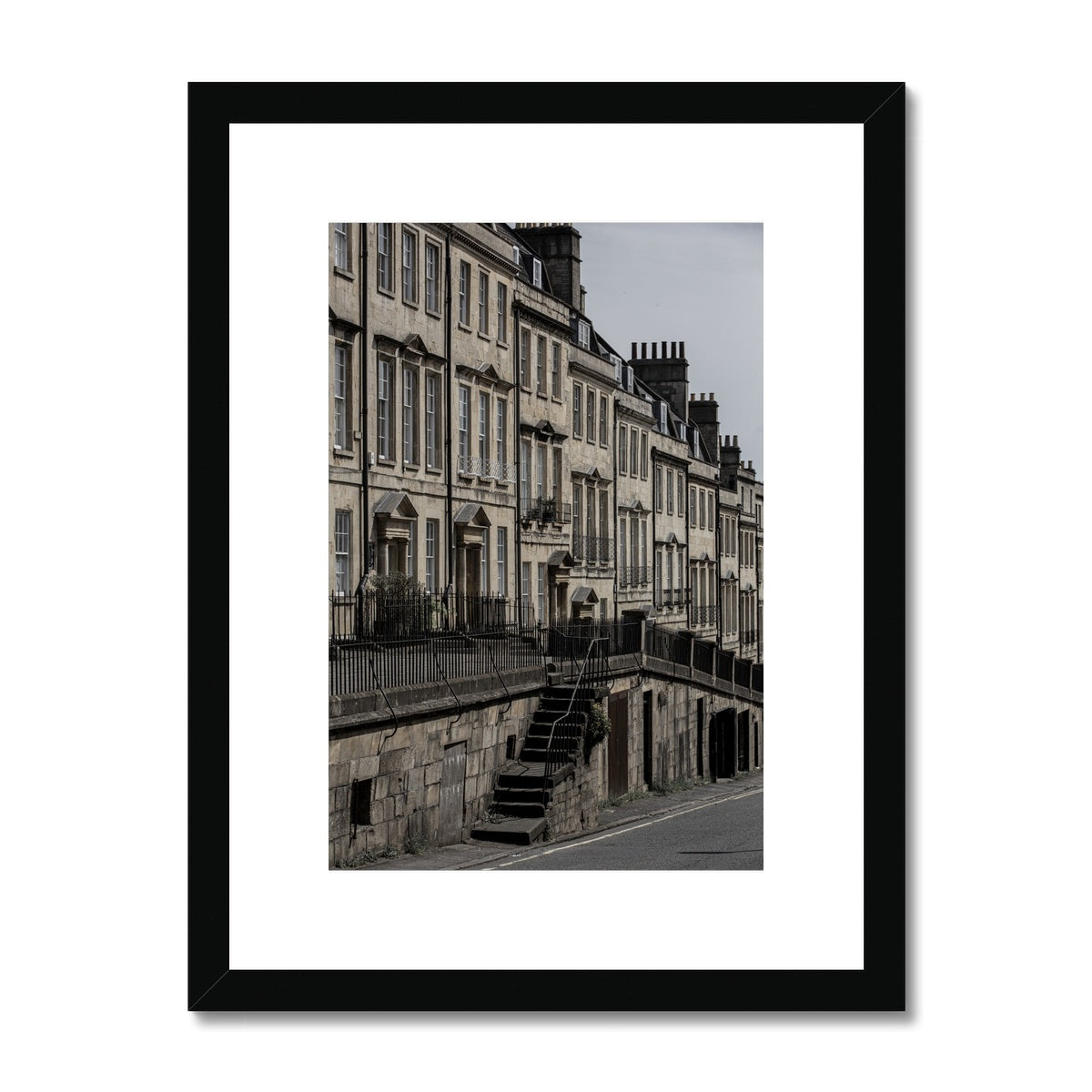 Bath Under Covid_10 Framed & Mounted Print