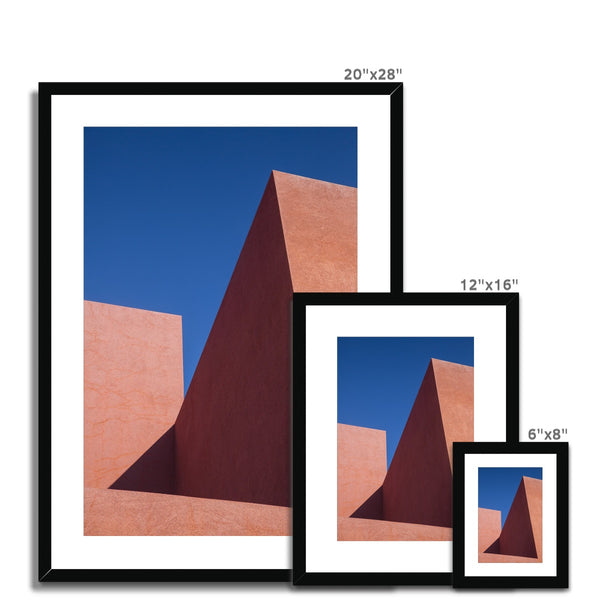 Santa Fe Adobe_5 Framed & Mounted Print