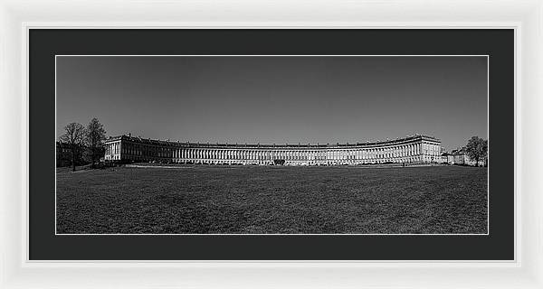 Bath Royal Circle - Framed Print