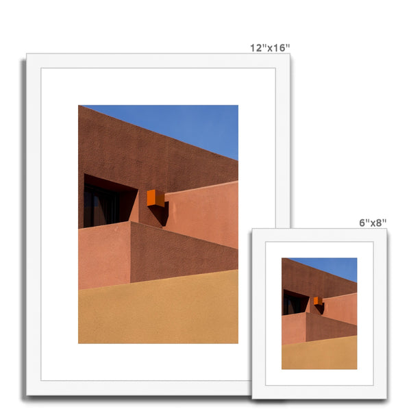 Santa Fe Adobe_12 Framed & Mounted Print