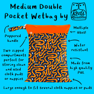 Reds Reusables - Medium Double Pocket Wetbag