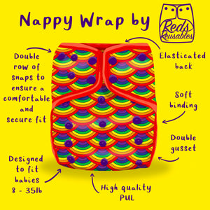 Reds Reusables - Nappy Wrap