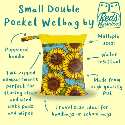 Reds Reusables - Small Double Pocket Wetbag
