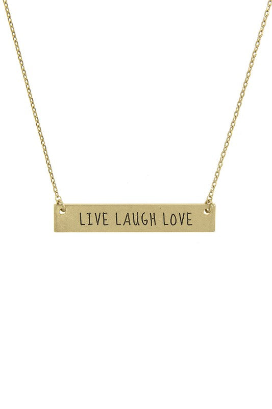 LIVE LAUGH LOVE Pendant