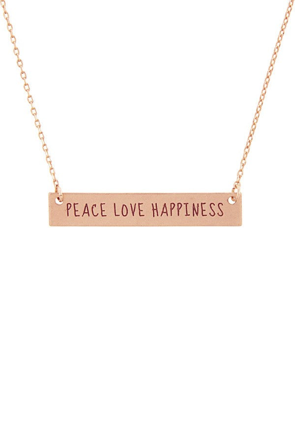 PEACE LOVE HAPPINESS Pendant