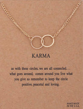 Load image into Gallery viewer, Karma Double Circle Necklace