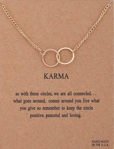 Karma Double Circle Necklace