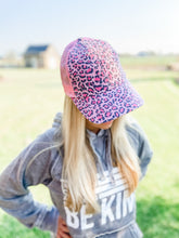 Load image into Gallery viewer, Leopard Mesh Ball Cap - Blush