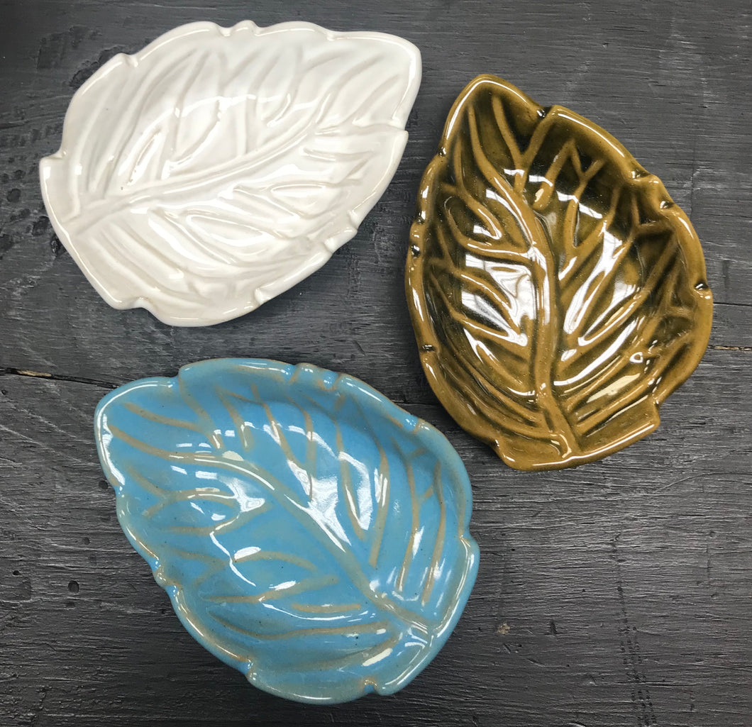 Leaf Fair Trade Ceramic Soap Dish