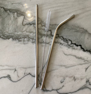 Reusable Stainless Set of 2 Straws